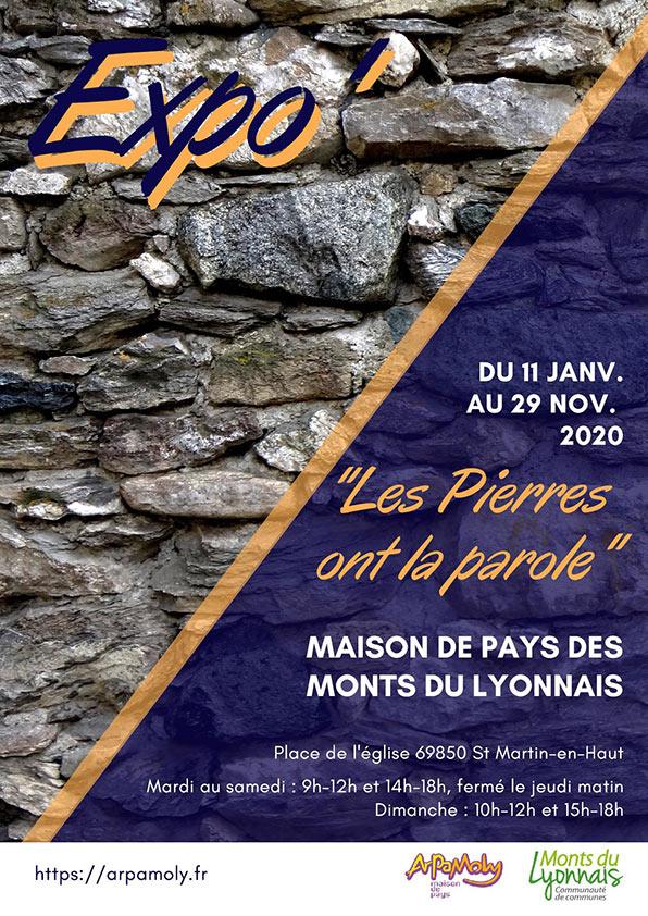 """Affiche Expo """"Les Pierres Ont La Parole"""""""