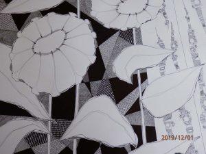 Tableau fleurs Histoires en noir et blanc