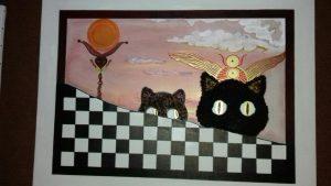 Peinture - Têtes folles et crazy cats