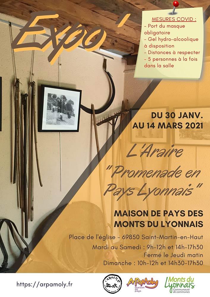 Affiche expo Promenade en Pays Lyonnais - Dispositions Covid