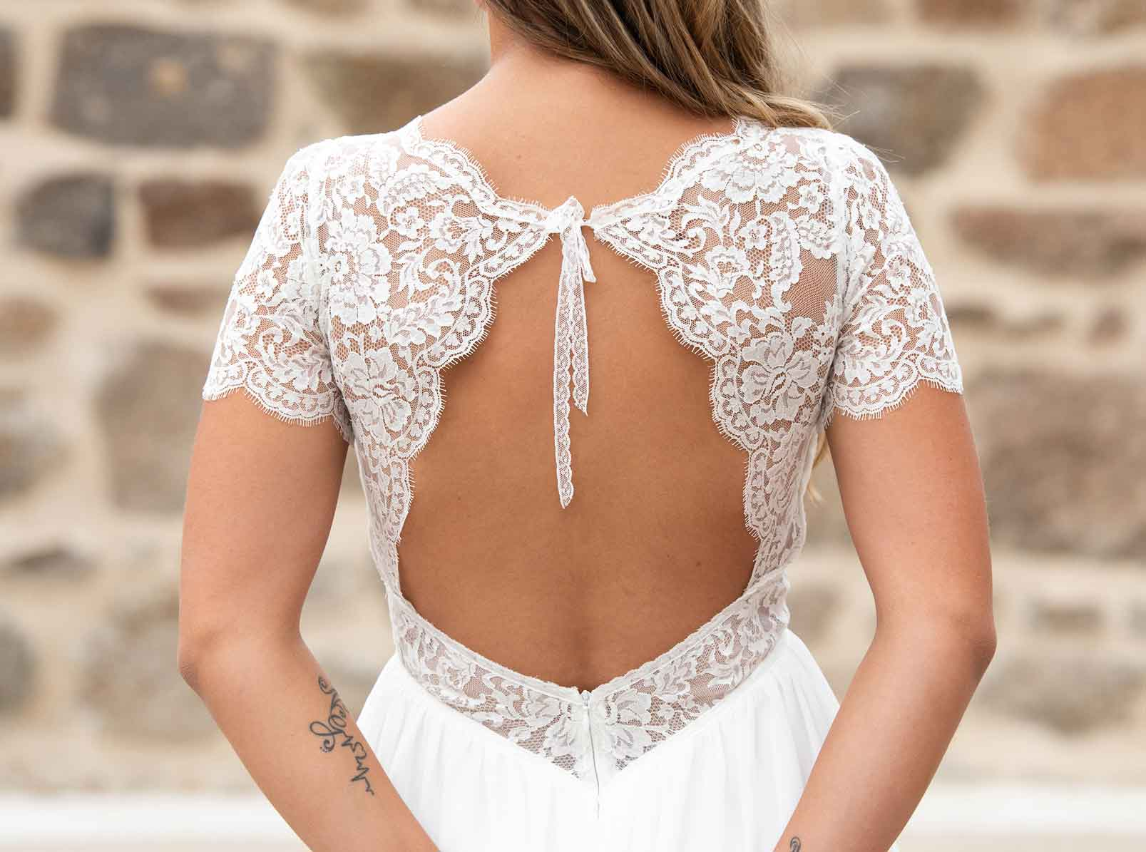 Robe de mariée créée par Delphine PINEL